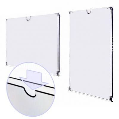 Frameless wall document display holder
