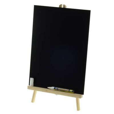 Blackboard and easel for table top use
