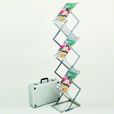 Zig Zag folding portable brochure stand