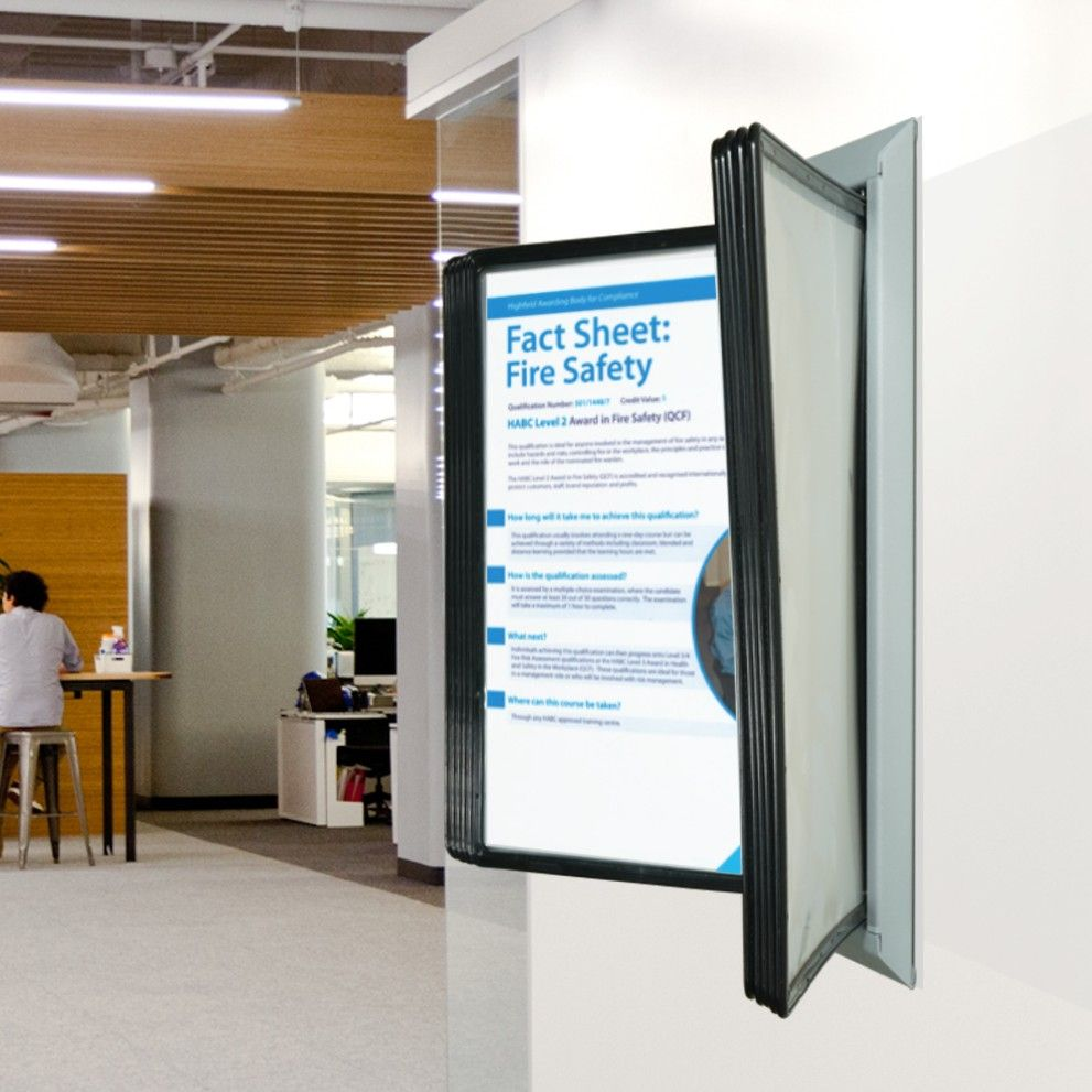 Hinged Wall Mounted Poster Display Sign Holders Co Uk