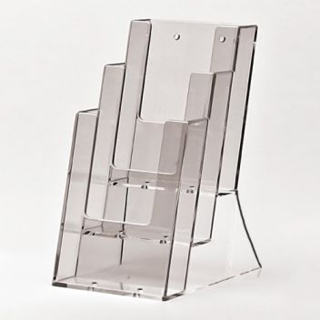 1/3 A4 literature dispenser - stacked 3-tier
