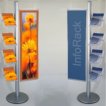 4 Shelf Brochure Stand