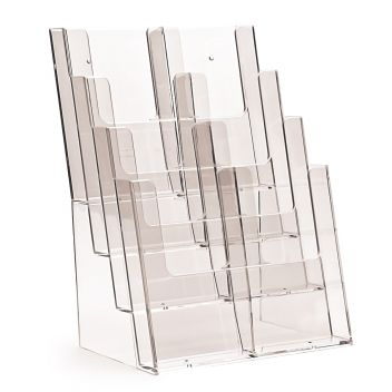 8 Pocket 4 stack DL 1/3rd A4 Leaflet dispenser