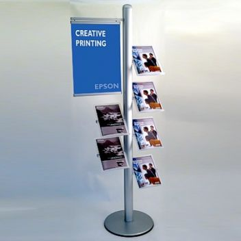 6 Shelf Leaflet Display Holder