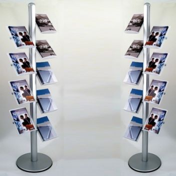8, 9 or 10 Shelf Brochure Display Rack