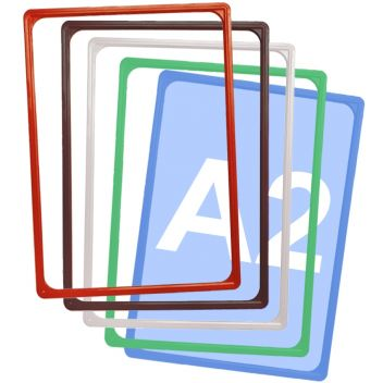 A2 Plastic frames in various colours