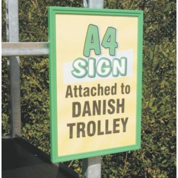 A4 Danish Trolley Sign holder