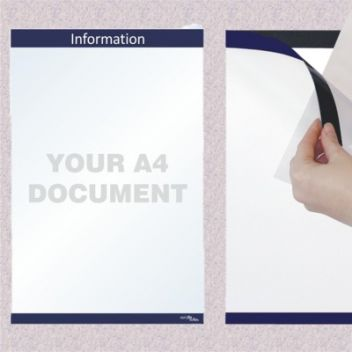 A4 information holders wall mounted
