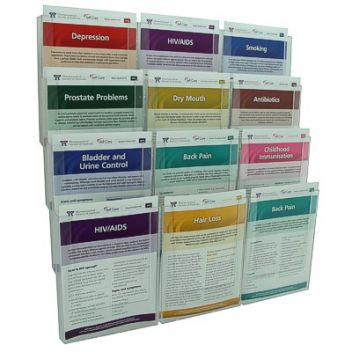A5 ClipLock 12 pocket wall literature display