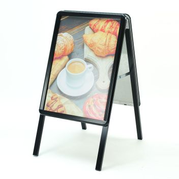 Black A2 A Board sandwich board pavement sign