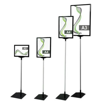 Sign stand A5 A4 A3 - fixed height models