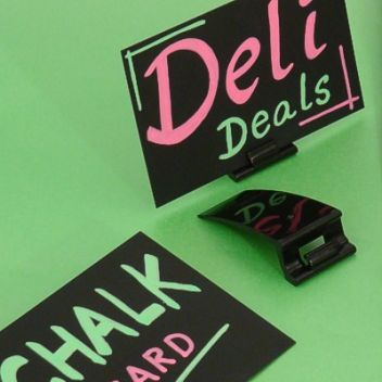Card clips with chalk cards (set 10)