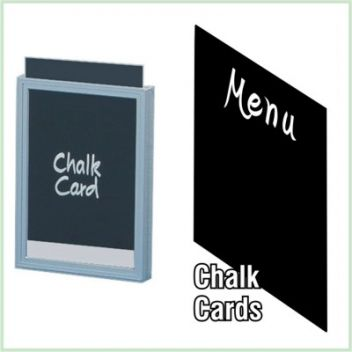 Chalk card inserts - all sizes