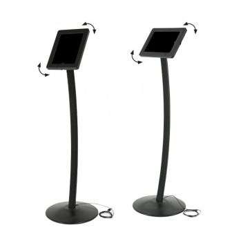 Curve free-standing iPad and tablet floor stand