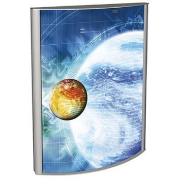 Curved illuminated poster cases