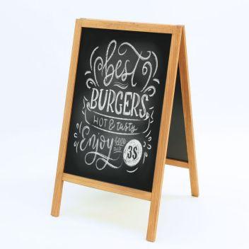 Rustic A-Board Frame Pavement Sign Free Stand Chalkboard Cafe Shop Pub Bar Board