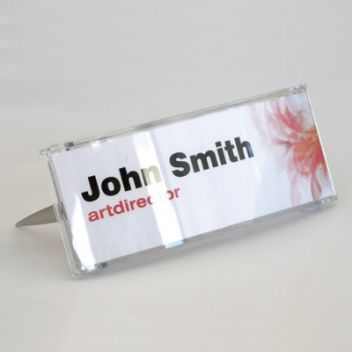 Desk name holder - Curved polycarbonate
