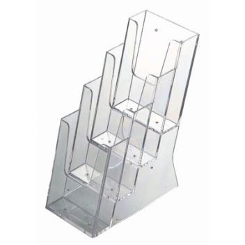 DL literature dispenser - tiered 4-bay