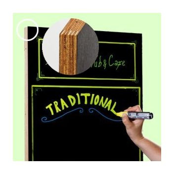 Double sided frameless chalkboard