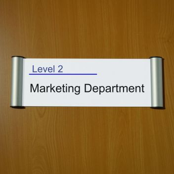Door signs - 25mm Edge Snap takes paper inserts