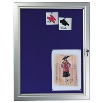 Felt lockable noticeboard/display case
