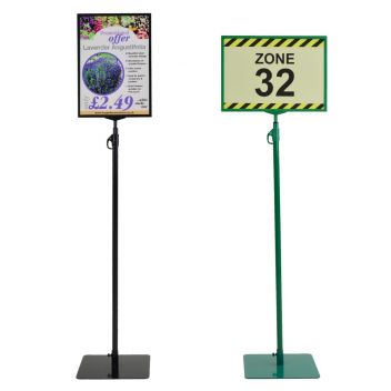 A4 and A3 floor sign stand with flat base