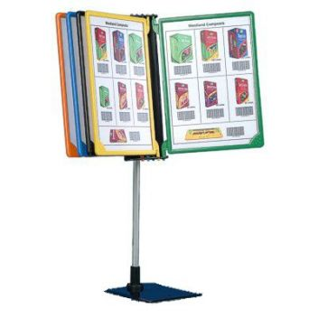 Flip poster display stand
