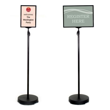 Floor standing signs A4 and A3 with covered base