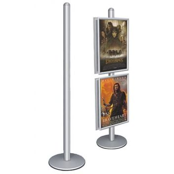Free standing display base and pole