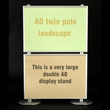 Large graphic display stands