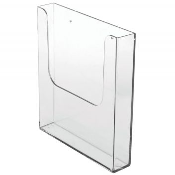 Leaflet holder A4 wall mount