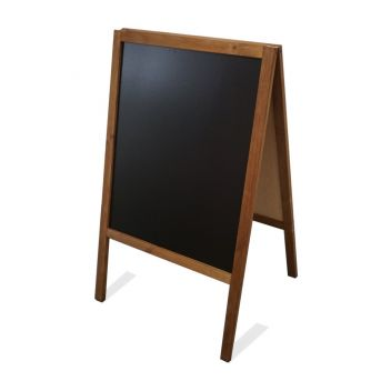 Wooden sandwich board blackboard