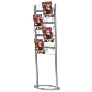 Literature display stand | 8 - 16 A4 pockets