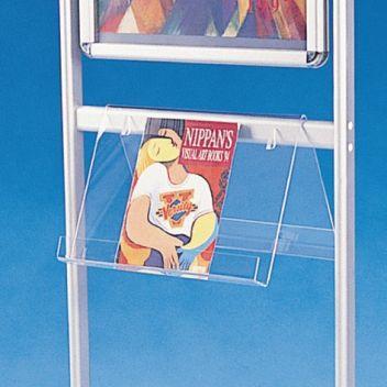 Literature shelf for Infoboard