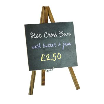 Mini chalkboard easel for counter display