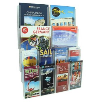 Mixed size wall-mount brochure display