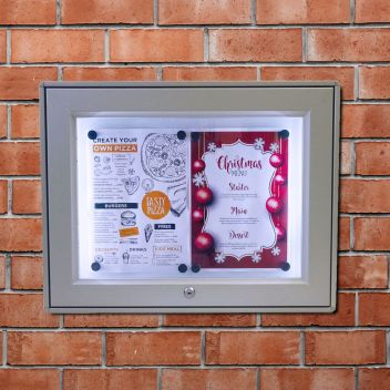 Exterior illuminated notice board