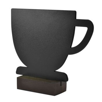 Table Top Chalkboard Mug Shaped