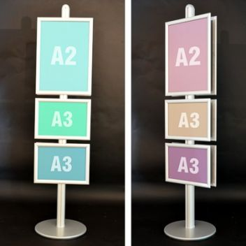 Multiple frame poster stand A2/A3