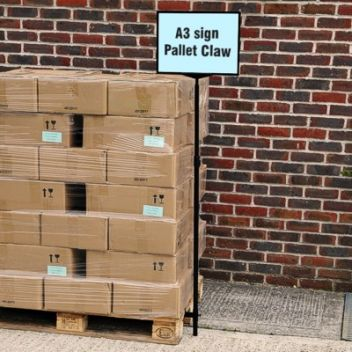 Pallet sign for EURO pallets