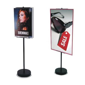 Display stand for graphic panels