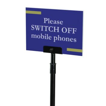 Floor stand for rigid sign board - Panelfix