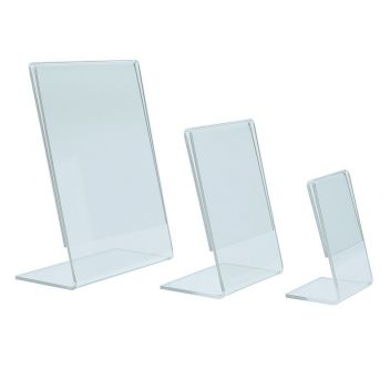 Plastic display stands - small Portrait (pk10)
