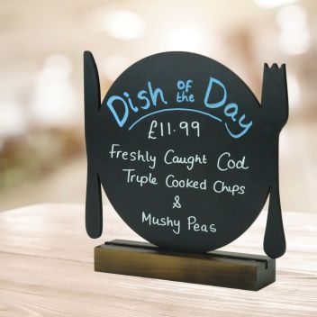 Table Top Chalkboard Sign - Plate