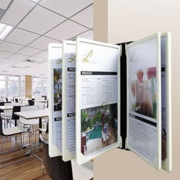Poster flip display wall-mounted