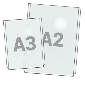 Acrylic display pockets for cable systems A4 to A1