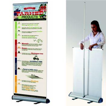 Premium roller banner stand