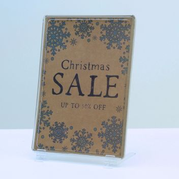 Showcard Clear POS Frames with Angled support feet