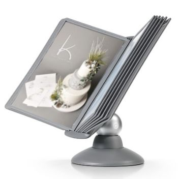 Rotating desktop display - silver