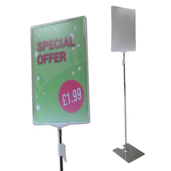 Large retail POS floor stand A4, A3